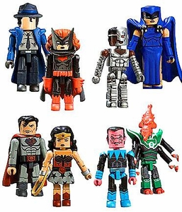 DC Universe Minimates Series 8 Set of 4 Mini Figure 2-Packs