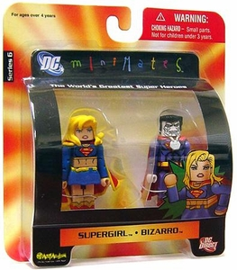 DC Universe Minimates Series 6 Mini Figure 2-Pack Supergirl & Bizarro