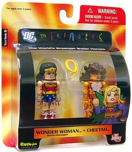 DC Universe Minimates Series 6 Mini Figure 2-Pack Wonder Woman [Battle-Damaged] & Cheetah