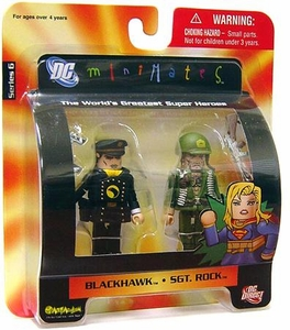 DC Universe Minimates Series 6 Mini Figure 2-Pack Sgt. Rock & Blackhawk