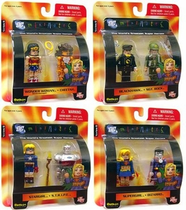 DC Universe Minimates Series 6 Set of 4 Mini Figure 2-Packs