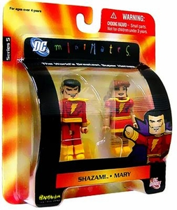 DC Universe Minimates Series 5 Mini Figure 2-Pack Shazam! & Mary Marvel