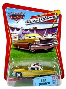 Disney / Pixar CARS Movie 1:55 Die Cast Car Series 4 Race-O-Rama Tex Dinoco