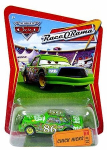 Disney / Pixar CARS Movie 1:55 Die Cast Car Series 4 Race-O-Rama Chick Hicks [Green]