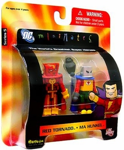 DC Universe Minimates Series 5 Mini Figure 2-Pack Red Tornado & Ma Hunkel