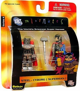 DC Universe Minimates Series 4 Mini Figure 2-Pack Steel & Cyborg Superman