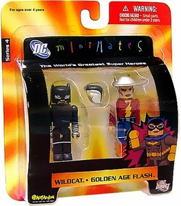 DC Universe Minimates Series 4 Mini Figure 2-Pack Golden Age Flash & Wildcat