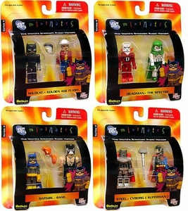 DC Universe Minimates Series 4 Set of 4 Mini Figure 2-Packs