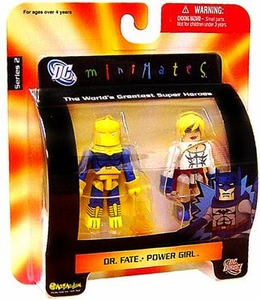 DC Universe Minimates Series 2 Mini Figure 2-Pack Power Girl & Dr. Fate BLOWOUT SALE!