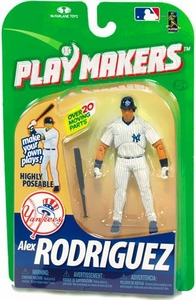 McFarlane Toys MLB Playmakers Series 1 Action Figure Alex Rodriguez (New York Yankees) [Batting Version]