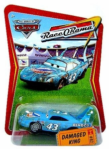 Disney / Pixar CARS Movie 1:55 Die Cast Car Series 4 Race-O-Rama Damaged King