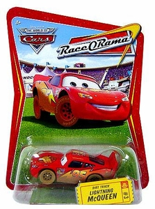 Disney / Pixar CARS Movie 1:55 Die Cast Car Series 4 Race-O-Rama Dirt Track Lightning McQueen