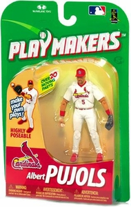 McFarlane Toys MLB Playmakers Series 1 Action Figure Albert Pujols (St. Louis Cardinals) [Fielding Version] Very Hard to Find!