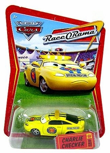Disney / Pixar CARS Movie 1:55 Die Cast Car Series 4 Race-O-Rama Charlie Checker