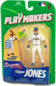 McFarlane Toys MLB Playmakers Series 1 Action Figure Chipper Jones (Atlanta Braves) [Batting Version]