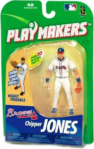 McFarlane Toys MLB Playmakers Series 1 Action Figure Chipper Jones (Atlanta Braves) [Fielding Version]