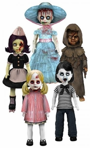 Mezco Toyz Living Dead Dolls Zombies Series 22 Set of 5 Figures [Goria, Menard, Roxie, Ava & Peggy Goo]