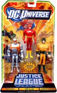 DC Universe Justice League Unlimited Action Figure 3-Pack Heatwave, The Flash & Mirror Master