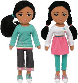 Ty Girlz Set of Both Obama Girls Plush Dolls Sweet Sydney & Marvelous Mariah