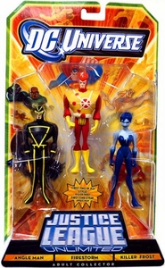 DC Universe Justice League Unlimited Action Figure 3-Pack Angle Man, Firestorm & Killer Frost