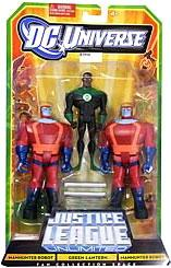 DC Universe Justice League Unlimited Fan Collection Action Figure 3-Pack 2x Manhunter Robots & Green Lantern