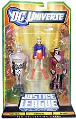 DC Universe Justice League Unlimited Fan Collection Action Figure 3-Pack Warlord, Deimos & Supergirl