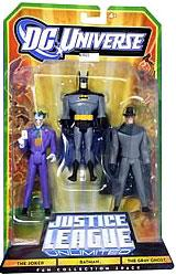 DC Universe Justice League Unlimited Fan Collection Action Figure 3-Pack Batman, Joker & Gray Ghost