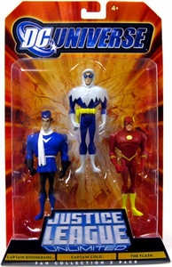 DC Universe Justice League Unlimited Fan Collection Action Figure 3-Pack Captain Boomerang, Captain Cold & The Flash
