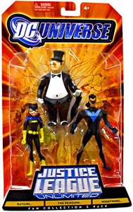 DC Universe Justice League Unlimited Fan Collection Action Figure 3-Pack Batgirl, Penguin & Nightwing