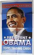 Topps Trading Cards Inaugural Edition President Barack Obama 11 X 17 Inch Promotional Poster