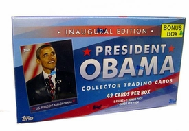 Topps Trading Cards Inaugural Edition President Barack Obama Bonus Box [5 Packs Plus 1 Bonus Pack]
