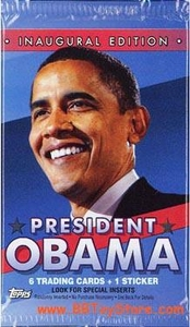 Topps Trading Cards Inaugural Edition President Barack Obama Trading Card Pack [6 Trading Cards & 1 Sticker]