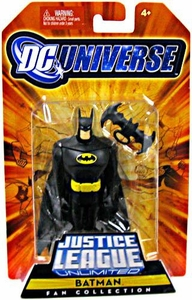 DC Universe Justice League Unlimited Fan Collection Action Figure Batman with Batarang [All Black Costume]