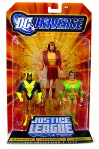 DC Universe Justice League Unlimited Fan Collection Action Figure 3-Pack Black Vulcan, Apache Chief & Samurai