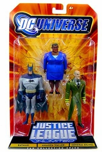 DC Universe Justice League Unlimited Fan Collection Action Figure 3-Pack Batman, Amanda Waller & General Eiling