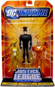 DC Universe Justice League Unlimited Fan Collection Action Figure 3-Pack Cheetah, Shade & Lex Luthor