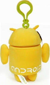 Android Plush Backpack Clip Yellow Guy