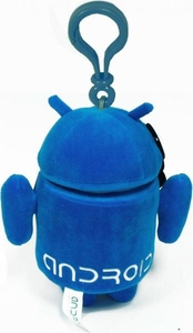 Android Plush Backpack Clip Blue Guy