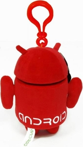 Android Plush Backpack Clip Red Guy