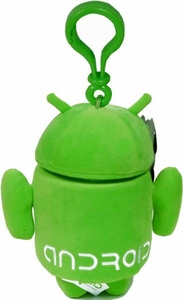 Android Plush Backpack Clip Green Guy