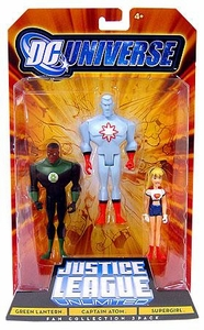 DC Universe Justice League Unlimited Action Figure 3-Pack Green Lantern, Captain Atom & Supergirl