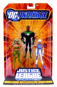 DC Universe Justice League Unlimited Action Figure 3-Pack Green Lantern, Fire & Ice