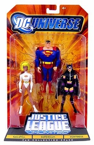DC Universe Justice League Unlimited Action Figure 3-Pack Galatea, Superman & Huntress