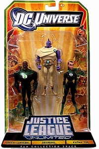 DC Universe Justice League Unlimited Action Figure 3-Pack Green Lantern, Despero & Katma Tui