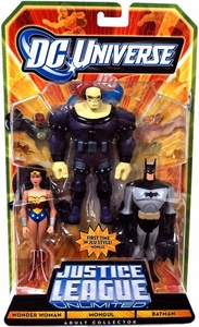 DC Universe JLU Exclusive Action Figure 3-Pack Mongul, Wonder Woman & Batman