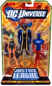 DC Universe JLU Exclusive Action Figure 3-Pack Aquagirl, Future Static & Micron