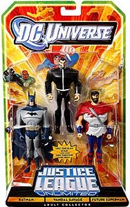 DC Universe JLU Exclusive Action Figure 3-Pack Batman, Vandal Savage & Future Superman