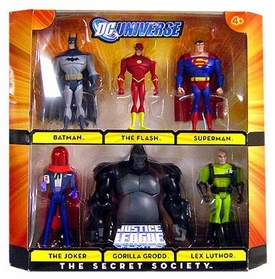 DC Universe Justice League Unlimited Exclusive Action Figure 6-Pack Secret Society [Batman, Flash, Superman, Lex Luthor, Gorilla Grodd & Red Hood Joker]