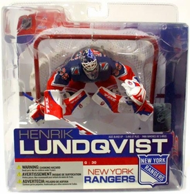 McFarlane Toys NHL Sports Picks Series 13 Action Figure Henrik Lundqvist (New York Rangers) Blue Alternate Jersey