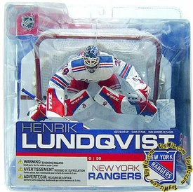 McFarlane Toys NHL Sports Picks Series 13 Action Figure Henrik Lundqvist (New York Rangers)  White Jersey Variant